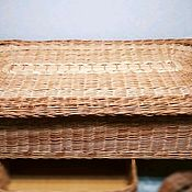 Для дома и интерьера handmade. Livemaster - original item Large box under the bed for storage of natural willow vines. Handmade.