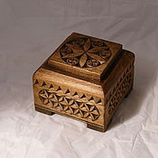 Для дома и интерьера ручной работы. Ярмарка Мастеров - ручная работа Шкатулка деревянная резная. Handmade.