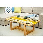 Столы ручной работы. Ярмарка Мастеров - ручная работа Стол с лимонной рекой из Акации. Handmade.