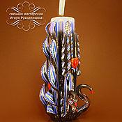 """Подарки к праздникам ручной работы. Ярмарка Мастеров - ручная работа Резная свеча """"Лебединая песня"""" высотой 22 см.. Handmade."""