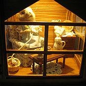 """Куклы и игрушки ручной работы. Ярмарка Мастеров - ручная работа Фонарь-светильник """"Мышка-рукодельница"""". Handmade."""