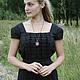 Платья ручной работы. Ярмарка Мастеров - ручная работа. Купить Платье  льняное № 1. Handmade. Черный, черное платье
