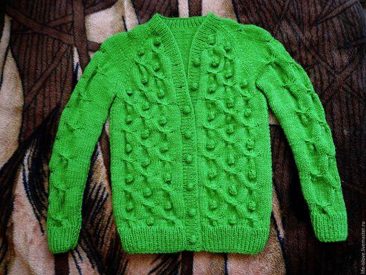Одежда для девочек, ручной работы. Ярмарка Мастеров - ручная работа. Купить Джемпер с шишечками. Handmade. Салатовый, для девочки, шишка
