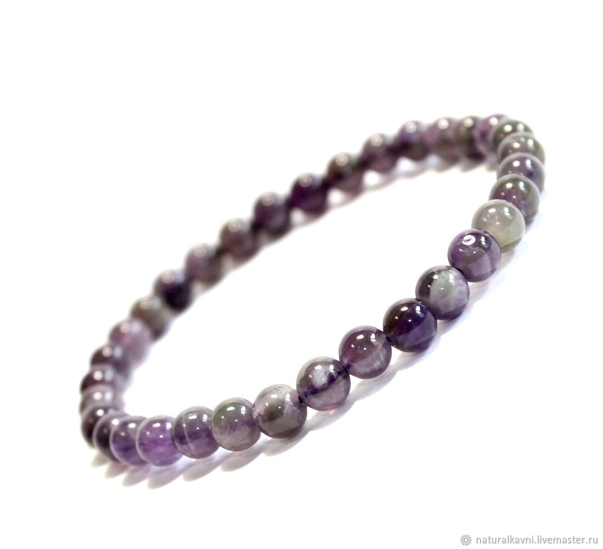 Bracelet made of natural amethyst, Bead bracelet, Moscow,  Фото №1