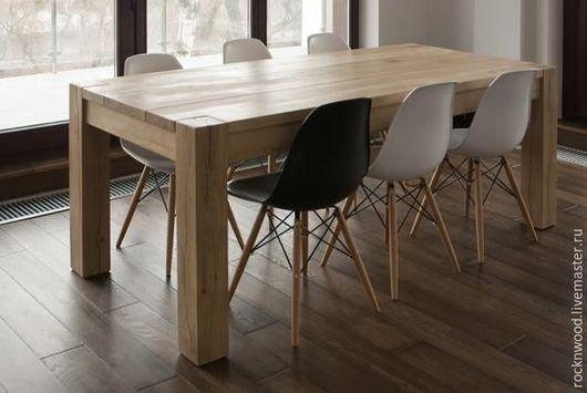 Мебель ручной работы. Ярмарка Мастеров - ручная работа. Купить Обеденный стол из дуба. Handmade. Стол, стол из дуба, для кафе
