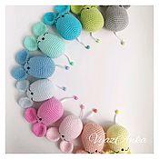 Мягкие игрушки ручной работы. Ярмарка Мастеров - ручная работа Мышки - норушки. Handmade.