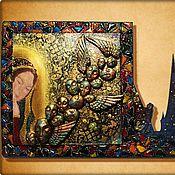 """Картины и панно ручной работы. Ярмарка Мастеров - ручная работа Декоративное панно из серии """"Сны...."""". Handmade."""