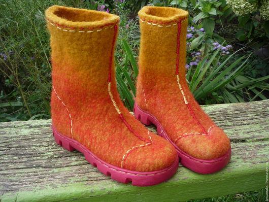 """Обувь ручной работы. Ярмарка Мастеров - ручная работа. Купить Валенки детские """"Инки"""". Handmade. Комбинированный, Валенки детские, шерсть"""