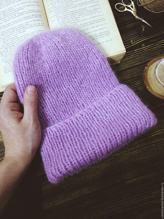 """Шапки ручной работы. Ярмарка Мастеров - ручная работа. Купить Мохеровая шапка """"Lilac"""". Handmade. Купить в москве, шапка женская"""