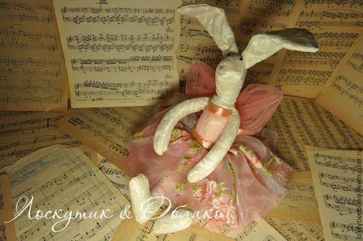 Куклы Тильды ручной работы. Ярмарка Мастеров - ручная работа. Купить Текстильная Зайка. Handmade. Розовый, ручная работа handmade