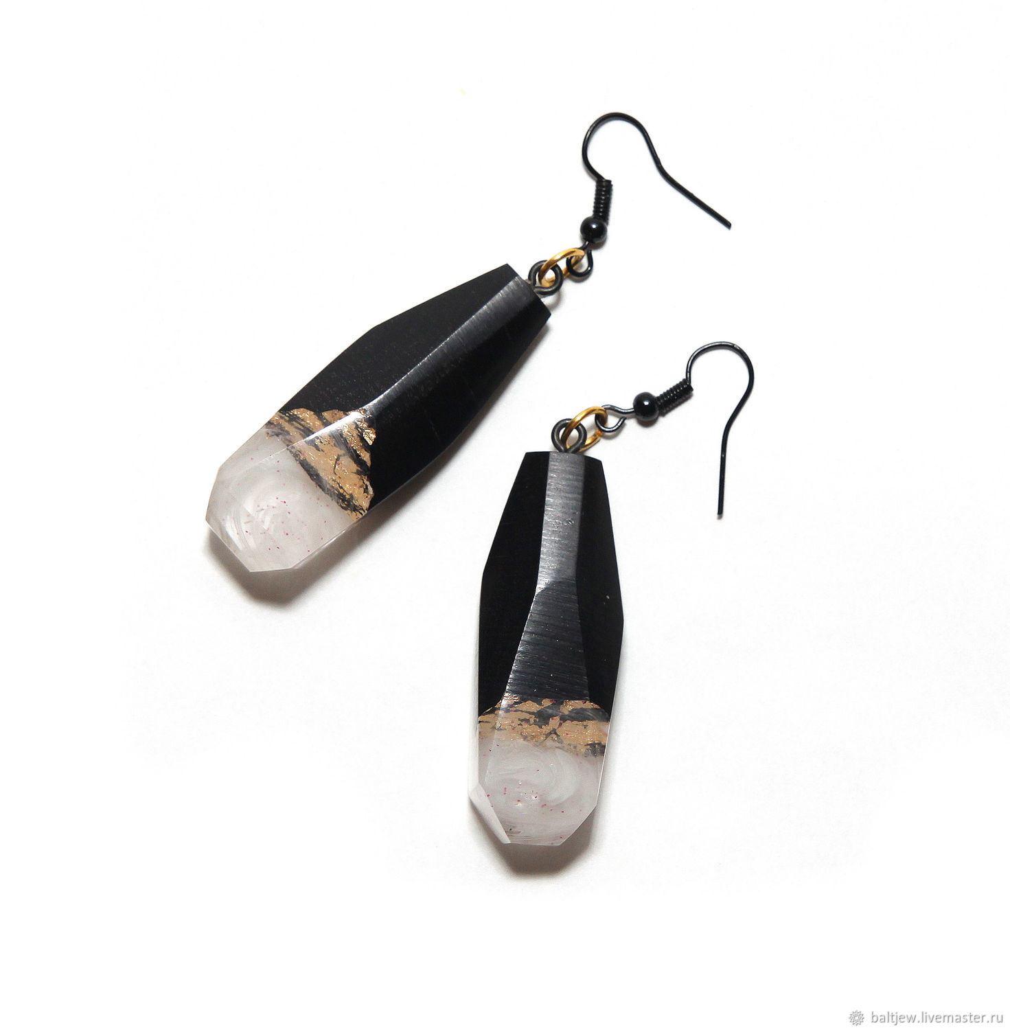 Earrings made of wood ' Golden mountains', Earrings, Moscow,  Фото №1