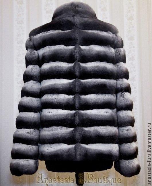 Верхняя одежда ручной работы. Ярмарка Мастеров - ручная работа. Купить Шуба из шиншиллы. Handmade. Чёрно-белый, шиншилла, пальто