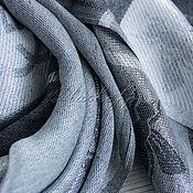 """Аксессуары handmade. Livemaster - original item Роскошный тонкий женский палантин  из ткани Gucci """"Мухи"""" черный. Handmade."""