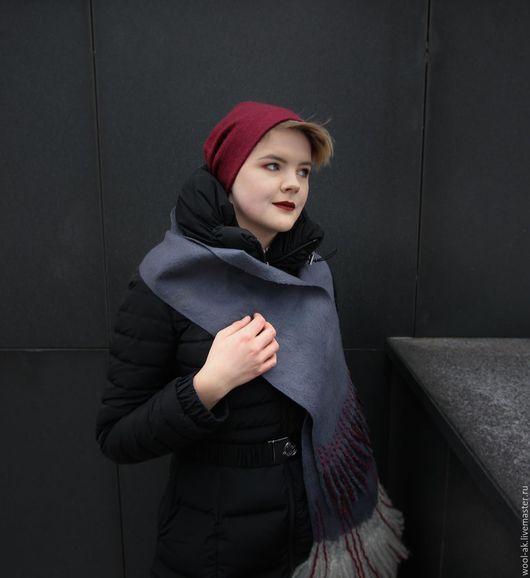 Шарфы и шарфики ручной работы. Ярмарка Мастеров - ручная работа. Купить Валяный шарф. Handmade. Авторская ручная работа