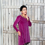 Одежда ручной работы. Ярмарка Мастеров - ручная работа Платье  велюровая. Handmade.