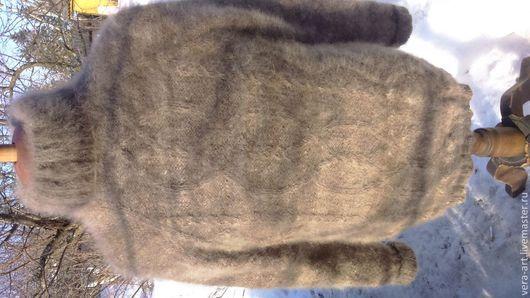 Варежки, митенки, перчатки ручной работы. Ярмарка Мастеров - ручная работа. Купить свитер из собачьего пуха мужской. Handmade.