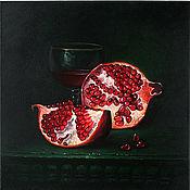 """Картины и панно ручной работы. Ярмарка Мастеров - ручная работа Картина маслом """"Гранатовый сок"""". Handmade."""