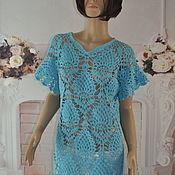 Одежда handmade. Livemaster - original item Crocheted tunic,42-46p, cotton. Handmade.