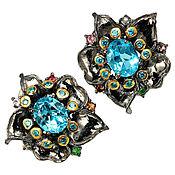 Украшения handmade. Livemaster - original item Handmade 925 sterling silver earrings with natural Swiss Topaz. Handmade.