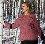 """Одежда ручной работы. Ярмарка Мастеров - ручная работа Вязаный пуловер """"Листья"""". Handmade."""