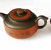 Винтаж ручной работы. Ярмарка Мастеров - ручная работа Чайник из Исинской глины для Пуэр или других чаёв и Чашка. Handmade.
