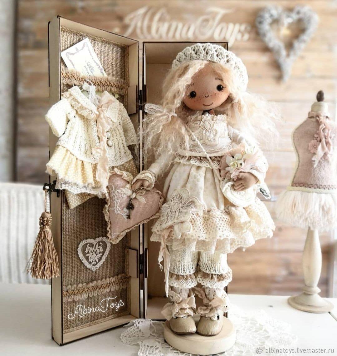 Textile doll-angel Annette. Boho style.In explanation, Dolls, Kazan,  Фото №1