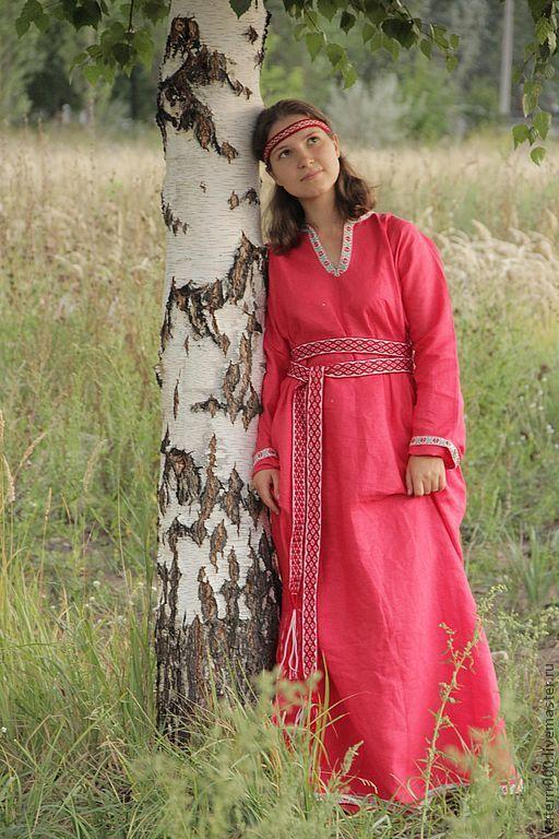 Этническая одежда ручной работы. Ярмарка Мастеров - ручная работа. Купить Платье в этно-стиле. Handmade. Платье, лён