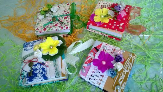 Блокноты ручной работы. Ярмарка Мастеров - ручная работа. Купить Блокнотики для записей. Handmade. Разноцветный, подарок на день рождения, бусины