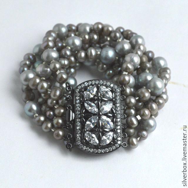 My Grey Pearl Bracelet Style Chanel Handmade Baslet Gray Pearls Nina Silverbox