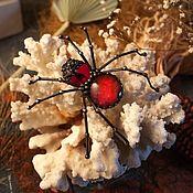 Украшения handmade. Livemaster - original item Spider Brooch (bro-019). Handmade.