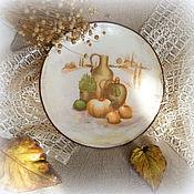 Картины и панно ручной работы. Ярмарка Мастеров - ручная работа декоративная тарелка дары осени прованса. Handmade.