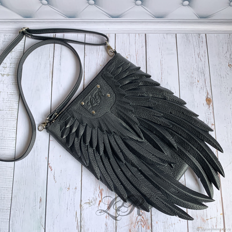 Crossbody bag black ' angel Wings', Crossbody bag, Moscow,  Фото №1