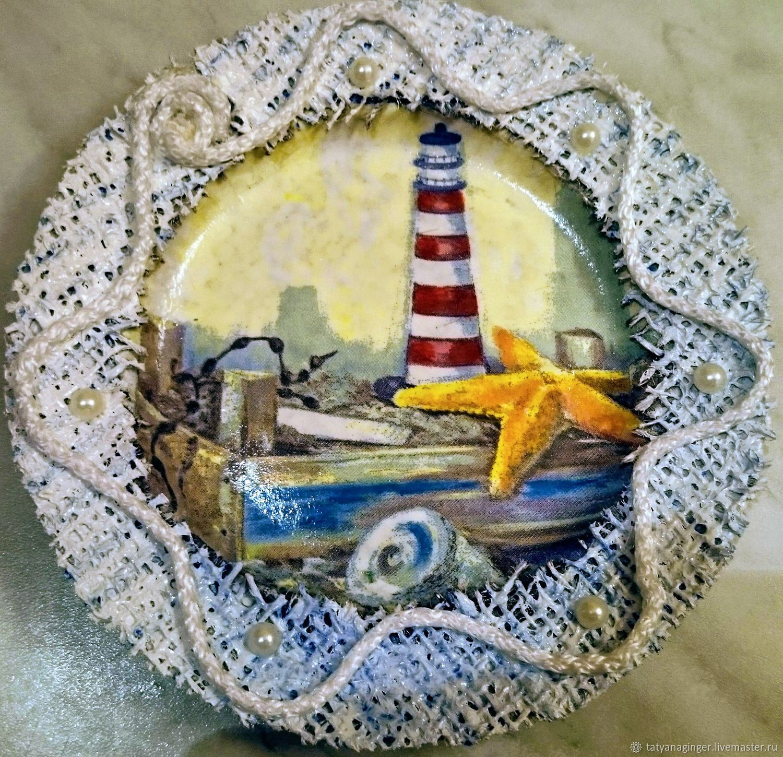 Декоративная тарелка в морском стиле, Тарелки, Камызяк,  Фото №1