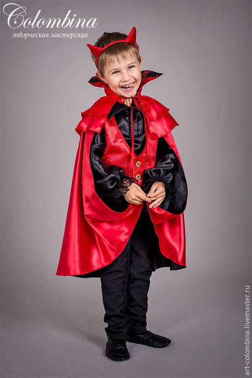 Детские карнавальные костюмы ручной работы. Ярмарка Мастеров - ручная работа. Купить Костюм чертёнка. Handmade. Ярко-красный, хеллоуин