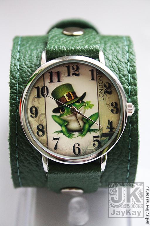 "Часы ручной работы. Ярмарка Мастеров - ручная работа. Купить Часы наручные JK ""Лягушонок"". Handmade. Часы, часы наручные"