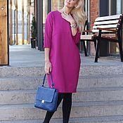 Одежда handmade. Livemaster - original item EGGDRESS JERSEY FUCHSIA dress. Handmade.