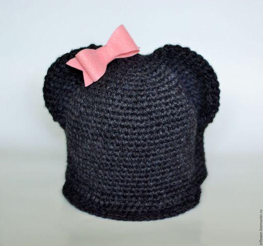 Шапки и шарфы ручной работы. Ярмарка Мастеров - ручная работа. Купить Мастер-класс по кепке с ушками Микки Мауса крючком. Handmade.