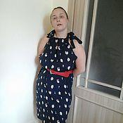 Одежда ручной работы. Ярмарка Мастеров - ручная работа платье из  хлопка с совами. Handmade.