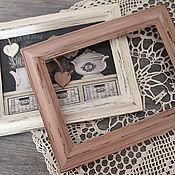 Сувениры и подарки handmade. Livemaster - original item Photo frames Shabby-vintage.Dusty rose, smoky blue,milky white.. Handmade.