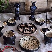 Фен-шуй и эзотерика handmade. Livemaster - original item Altar ceramic set (10 pieces) - wiccan pagan altar kit. Handmade.