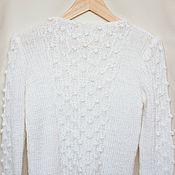 Одежда handmade. Livemaster - original item White knitted sweater. Handmade.