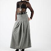 Одежда ручной работы. Ярмарка Мастеров - ручная работа Серая юбка в пол. Handmade.