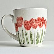 Чашки ручной работы. Ярмарка Мастеров - ручная работа Чашки: Чашка Тюльпановая. посуда ручной работы,керамика. Handmade.