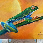 Картины и панно handmade. Livemaster - original item Carevicha. frog. Oil painting.. Handmade.