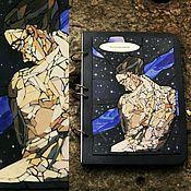 "Канцелярские товары handmade. Livemaster - original item Sketch pad A4 ""Cosmo"" wood cover. Handmade."