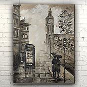 """Картины и панно ручной работы. Ярмарка Мастеров - ручная работа Картина масло холст """"Лондон"""". Handmade."""