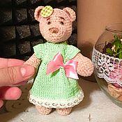 Куклы и игрушки ручной работы. Ярмарка Мастеров - ручная работа мини-мишка Маша. Handmade.