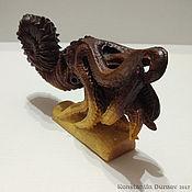 Для дома и интерьера ручной работы. Ярмарка Мастеров - ручная работа Скульптура из экзотического дерева Древний цефалопод. Handmade.