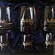 """Персональные подарки ручной работы. Набор """"За Победу!"""" (3 стакана и 3 стопки). Подарочный набор. Мануфактура Жукова ПОДАРКИ МУЖЧИНАМ. Ярмарка Мастеров."""