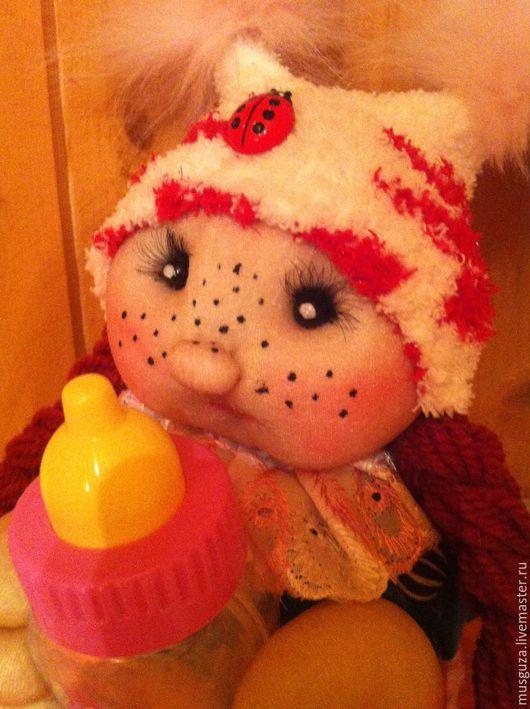 """Человечки ручной работы. Ярмарка Мастеров - ручная работа. Купить Кукла  игровая для детей """"Малютка Анютка"""". Handmade. Комбинированный, куколка"""